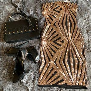 Fashion nova strapless dress